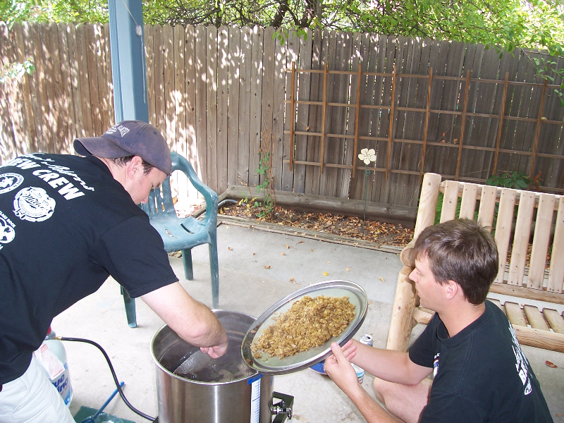 Jason and Paul homebrewing in 2007