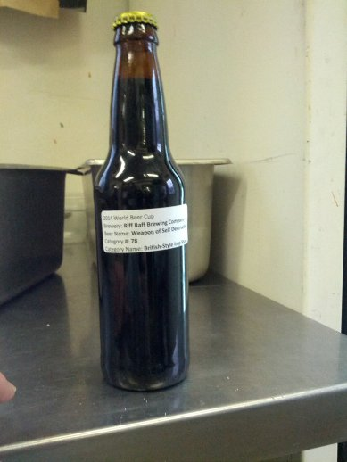 Weapon of Self Destruction...The first beer we bottled for the 2014 World Beer Cup