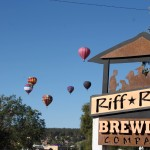Hot Air Balloons Over Riff Raff Brewing Company